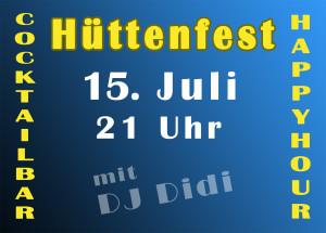Hüttenfest Flyer